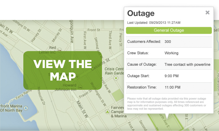 View the Outages Map